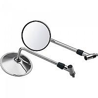 [해외]POLO Handlebar Mounted Mirror 15 9136433789 Chrome For Bandit