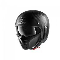 [해외]샤크 S-Drak 2 Carbon Skin Convertible Helmet 9137370390 Carbon / Silver / Black