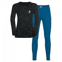 [해외]오들로 세트 Warm 셔츠 L/S 팬츠 롱 Mykonos Blue / Black