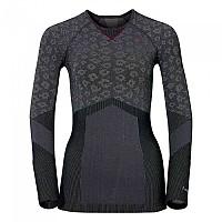 [해외]오들로 셔츠 L/S 크루 넥 에보lution Warm 블랙 Odlo Concrete Grey/Black/Magenta Purple
