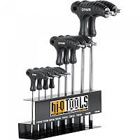 [해외]HI Q TOOLS T-Handle Torx Hexagonal Wrench Set 9 Units 137515549 Black / Silver