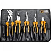 [해외]HI Q TOOLS Pliers Set In Roll Up Bag 5 Units 137515551 Orange / Black