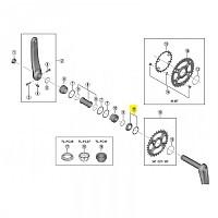 [해외]시마노 M8100/M7100 Lock Ring Washer 1137565920 Silver