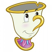 [해외]CERDA GROUP Round Princess Chip Towel White