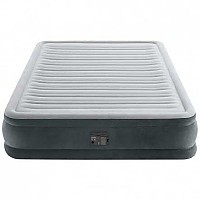 [해외]인텍스 Fiber-Tech Comfort Plush Air Bed 4137566134 Grey