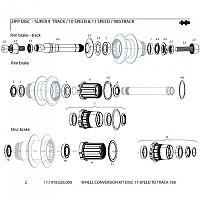 [해외]ZIPP 트랙 Axle Conversion Kit Disc 188 11s