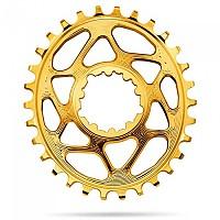 [해외]ABSOLUTE BLACK Oval 스램 DM GXP 6 mm 오프set Gold