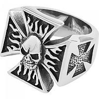 [해외]SPIRIT MOTORS Stainless 스틸 Iron 크로스&Skull Silver