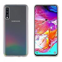 [해외]MUVIT Cristal 소프트 케이스 Samsung Galaxy A70 And Tempered Glass Screen Protector 팩 Clear / Black
