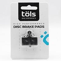[해외]TOLS Organic Brake Pads Shimano XTR/SLX Black / White