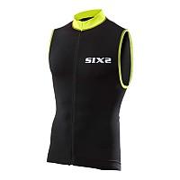 [해외]SIXS 스트라이프s 슬리브less Bike 저지 Black / Yellow