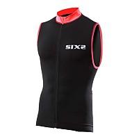 [해외]SIXS 스트라이프s 슬리브less Bike 저지 Black / Red