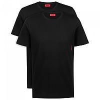 [해외]휴고 T-셔츠 리브bed 넥 2 팩 Black