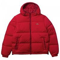 [해외]라코스테 숏 라이트웨이트 Water-Resistant 퍼퍼 Black / Red