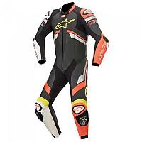 [해외]알파인스타 GP Plus V3 Leather 9137451129 Black / Red Fluo / White