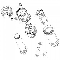 [해외]락샥 Metric Coil/Trunnion 55/Super Deluxe Coil A1-A2 Eyelet/Damper Body 1137670010 Black
