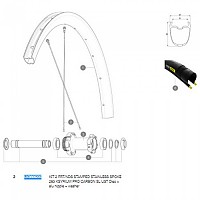 [해외]마빅 Ksyrium Pro Carbon SL UST Disc Front/Rear Left 2 Units 1137660998 Black