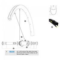 [해외]마빅 Ksyrium Pro Carbon SL UST Disc Front/Rear Left 12 Units 1137660999 Black
