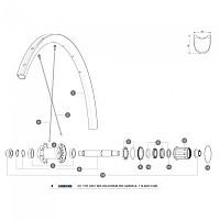 [해외]마빅 Ksyrium Pro Carbon SL T Front 1 Unit/Rear Left 1 Unit 1137661010 Black