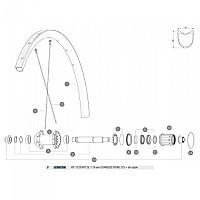[해외]마빅 Ksyrium Pro Carbon SL T Rear Right 12 Units 1137661011 Black