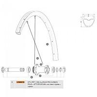[해외]마빅 Allroad Pro Carbon SL R+ 650B Front/Rear Left 2 Units 1137661016 Black