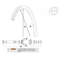 [해외]마빅 Allroad Pro Carbon SL Front/Rear Left 2 Units 1137661018 Black