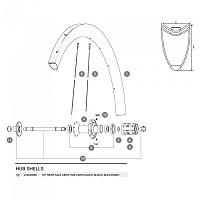 [해외]마빅 Cosmic Carbone 40/CXR Ultimate 60/Cosmic Pro Carbon Exalith Rear Axle Kit 1137660323 Black
