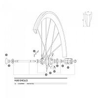 [해외]마빅 Cosmic Carbone Ultimate Rear Axle Kit 1137660328 Black