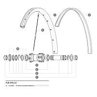 [해외]마빅 Crossroc XL Front Axle Kit 1137660346 Silver / Black