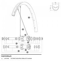 [해외]마빅 MTB L1 QRM Auto Axle Front 1137660352 Black / Silver