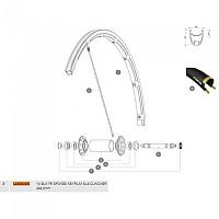 [해외]마빅 Ksyrium SLS/SLE/Pro Exalith 2013-16 Front 10 Units 1137660874 Black