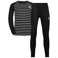 [해외]오들로 Set Active Warm Eco Kids 5137501656 Black / Grey Melange / Stripes