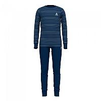 [해외]오들로 Set Active Warm Eco Kids 5137501659 Estate Blue / Grey Melange / Stripes