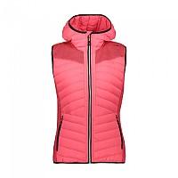 [해외]CMP Woman Vest Fix Hood 4137702366 Red Fluo