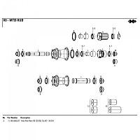 [해외]스램 Axle For X0 DH Rear Hub 1137779906 Black