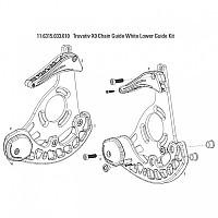 [해외]TRUVATIV X0 Chain Guide Lower Guide Kit 1137786619 White