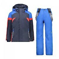 [해외]CMP Kid Set Jacket+Pant 5137702937 Black Blue