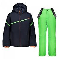[해외]CMP Kid Set Jacket+Pant 5137702941 Black Blue