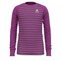 [해외]오들로 Shirt L/S Crew Neck Warm Kids 5137498427 Hyacinth Violet / Grey Melange / Stripes