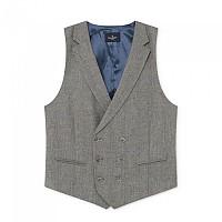 [해외]HACKETT Wool Cotton Cash Window Pane Waistcoat Grey / Blue