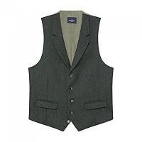 [해외]HACKETT Wool Herringbone Mouline Waistcoat Dark Green