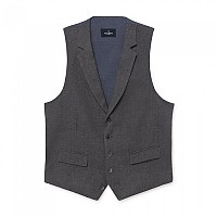[해외]HACKETT Brush Cotton Herringbone Waistcoat Grey
