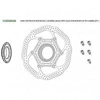 [해외]스램 Hub Centerlock Rotor Disc Lockring Up To 160 mm 1137670895 Black