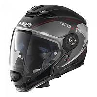 [해외]놀란 N70-2 GT Lakota N-Com Convertible Helmet 9137806431 Flat Black / Red