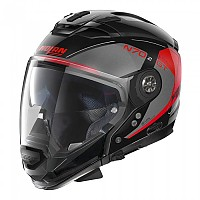 [해외]놀란 N70-2 GT Lakota N-Com Convertible Helmet 9137806434 Metal Black / Grey / Red
