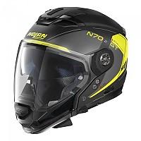 [해외]놀란 N70-2 GT Lakota N-Com Convertible Helmet 9137806435 Flat Black / Yellow