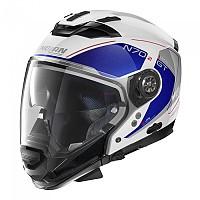 [해외]놀란 N70-2 GT Lakota N-Com Convertible Helmet 9137806437 Metal White / Blue