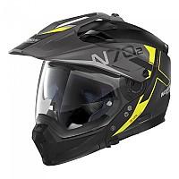 [해외]놀란 N70-2 X Bungee N-Com Convertible Helmet 9137806438 Flat Black / Yellow
