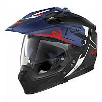 [해외]놀란 N70-2 X Bungee N-Com Convertible Helmet 9137806440 Flat Black / Blue