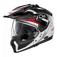 [해외]놀란 N70-2 X Bungee N-Com Convertible Helmet 9137806441 Metal White / Black